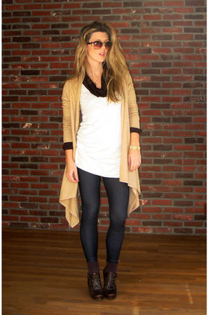 beige long cardigan liz lange cardigan - brown Via Spiga shoes