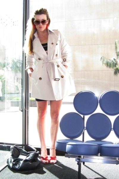 Burberry coat - Ralph Lauren dress - Aldo shoes - Aldo accessories - Marc by Mar