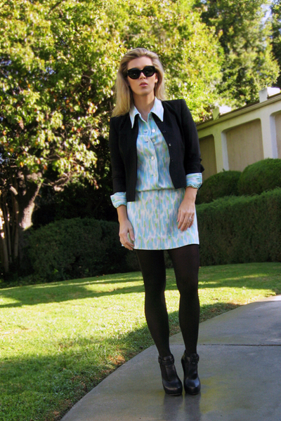 vintage dress - Bill Kaiserman vintage blazer - Velvet Angels shoes