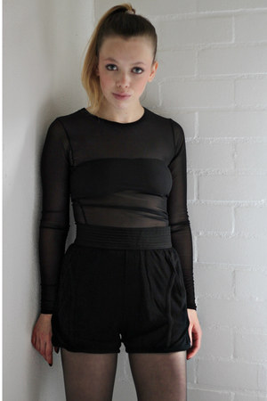 black worn as top American Apparel dress - black t by alexander wang shorts