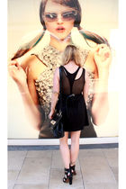 black Cheap Monday dress - black American Apparel intimate - black Zara shoes -