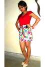 White-skirt-gold-forever-21-accessories-light-pink-flats-red-accessories