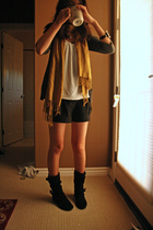 H&M scarf - BP shoes - Betsey Johnson bracelet