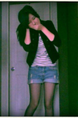 H&M jacket - Forever 21 blouse - Levis jeans