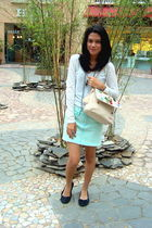 white smoothies shirt - blue Gaudi skirt - beige Gosh - black symbolize shoes