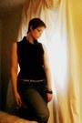 Boyfriend-thrifted-jeans-rhinestone-vintage-bracelet-cowl-neck-target-top