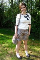 pink warehouse sweater - gray Club Monaco shorts - gray Aldo bag - gray Spring S