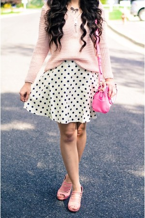 Blue Vanilla sweater - AmiClubWear shoes - Target purse - Shopbop skirt