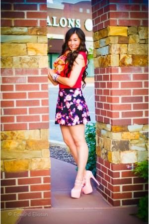 Charlotte Russe skirt - ami clubwear pumps