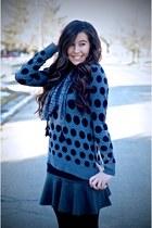 PERSUNMALL skirt - Forever 21 sweater - kensie scarf