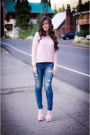 American Eagle jeans - Target sweater - AmiClubWear heels