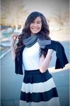 Forever 21 shirt - PERSUNMALL scarf - Windsor Store skirt