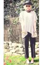 vintage hat - H&M swimwear - wool crepe paul costello dressage pants