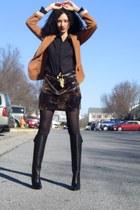 Steve Madden boots - Betsey Johnson skirt