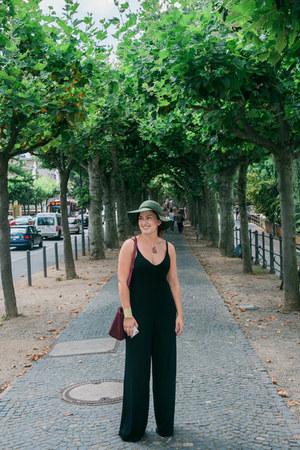 jersey Zara jumper - floppy hat BP hat - maroon kate spade purse