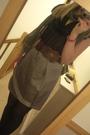 Gold-joseph-skirt-black-new-look-blouse-brown-new-look-belt