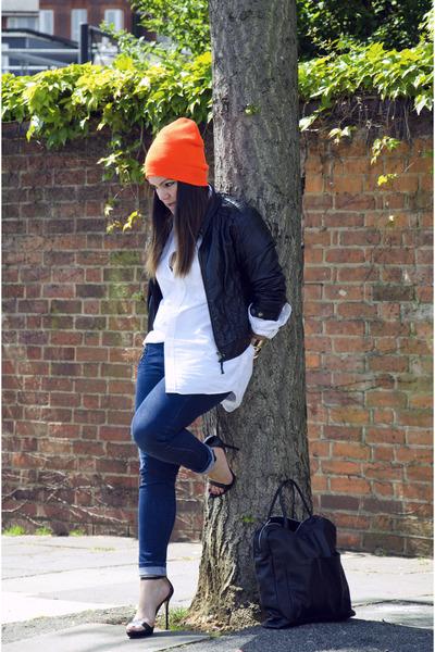 Zara jeans - Zara jacket - COS bag - Zara heels