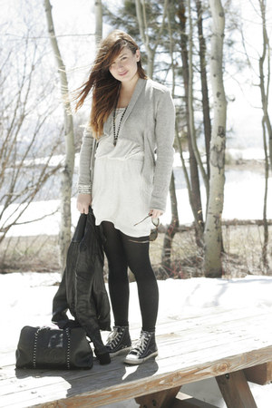 Chanel bag - banana republic sweater - Spanx tights - Chanel sunglasses