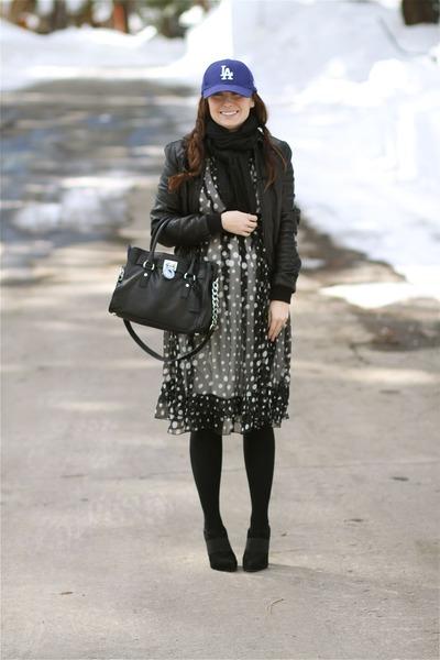Jessica Simpson shoes - polka dots Luluvia dress - Michael Kors bag - Spanx inti