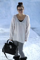 Moonboots boots - grey Sass and Bide jeans - free people sweater - Michael Kors