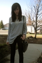 Zara shirt - Zara pants - vintage purse - payless shoes