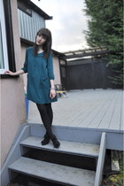 teal Urban Outfitters dress - black Urban Outfitters wedges