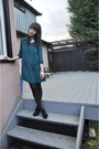 Teal-urban-outfitters-dress-black-urban-outfitters-wedges