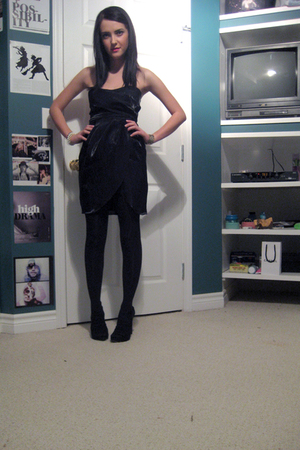 black Forever XXI dress - black Zara shoes