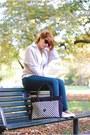 Kipling-bag-zara-pants-clockhouse-blouse-new-look-flats-kiabi-vest