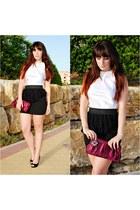 lace Kiabi skirt - satin Avon bag - peep toes Dunnes heels