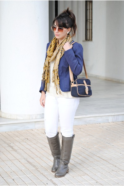 clockhouse boots - Stradivarius jeans - Kiabi jacket - Dunnes bag - Kiabi top