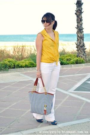 Liz Clairbone blouse - DressLink bag - Pimkie pants - Marypaz heels