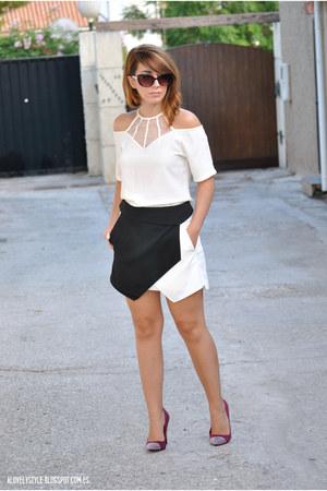 BangGood dress - Front Row Shop skirt - Marypaz heels