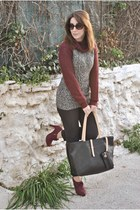 clockhouse sweater - Dunnes boots - chicnova bag - Dunnes pants