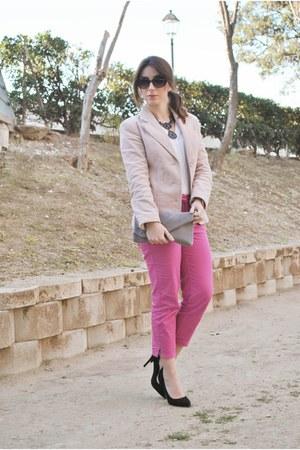 Zara blazer - Dunnes shirt - Dorothy Perkins bag - Savida pants
