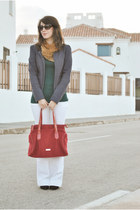 Valentino bag - Kiabi jacket - clockhouse sweater - Pimkie pants