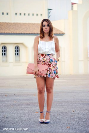 BLANCO skirt - Dorothy Perkins bag - Marypaz heels - Lefties top