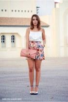 BLANCO skirt - Dorothy Perkins bag - Marypaz heels - Lefties top