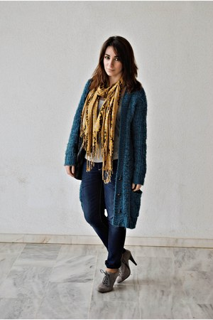clockhouse cardigan - Marypaz boots - clockhouse jeans
