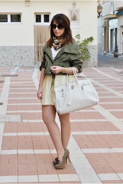 Springfield jacket - BLANCO bag - clockhouse skirt