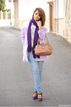 JollyChic coat - clockhouse jeans - Sheinside top