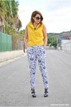 liz claiborne blouse - romwe pants - Marypaz heels