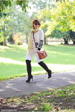Poppy Lux cardigan - new look boots - Steve Madden bag - new look pants