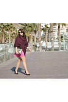 Dunnes bag - H&M skirt - Atmosphere heels - clockhouse cape