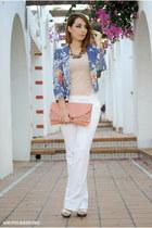 romwe blazer - Dorothy Perkins bag - Pimkie pants - romwe top - Marypaz heels