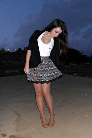 Kiabi skirt - Massimo Dutti cardigan - clockhouse top - dunnes stores heels