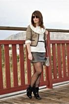 Savida jacket - Dunnes boots - Sfera sweater - Dunnes bag - Kiabi belt