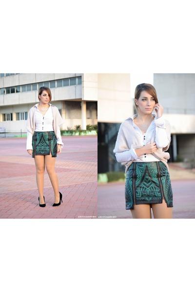 Fashion Union skirt - Kiabi vest - clockhouse blouse - Atmosphere heels