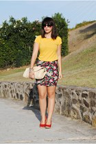 pull&bear skirt - Xaro sastre bag - Pimkie top - Marypaz wedges