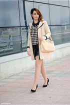 PERSUNMALL blouse - BangGood coat - JollyChic bag - Atmosphere heels